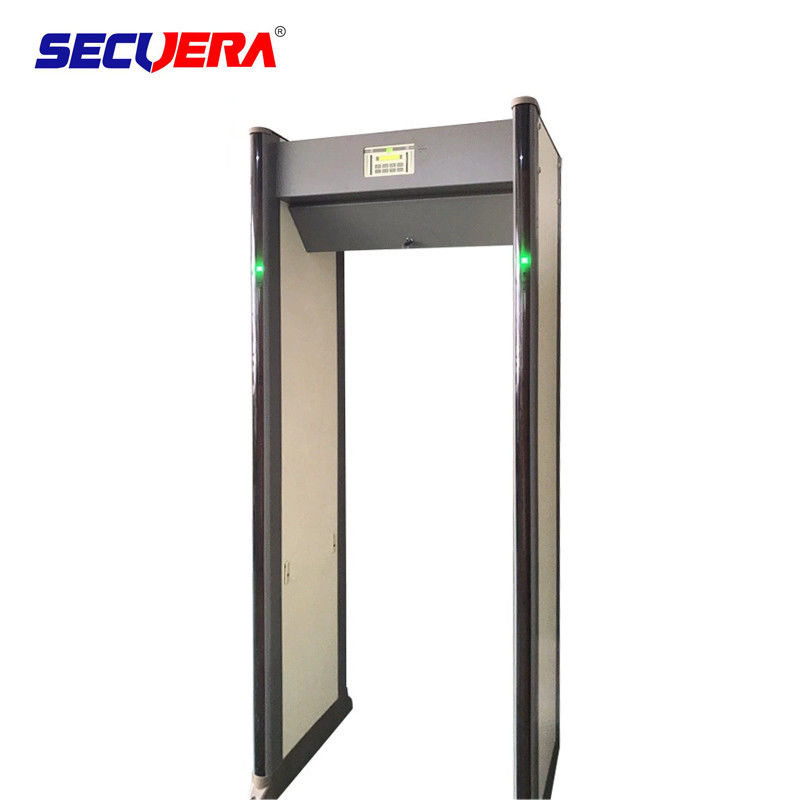 Arched Body Scanner Metal Detector Gate 33 Zone Security Equipment Sound / Light Alarm